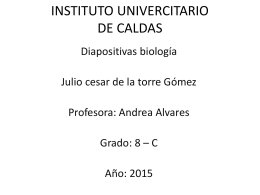 julio tarea biologia - Instituto Universitario de Caldas