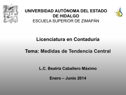 Medidas de tendencias central - Universidad Autónoma del Estado