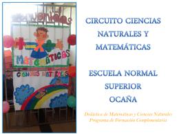 Circuito Ciencias Matemáticas - institución educativa escuela