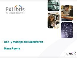 Uso y manejo del Salesforce
