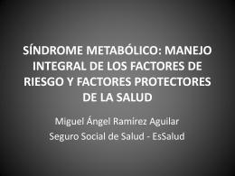 MANEJO INTEGRAL DE LOS FACTORES DE RIESGO
