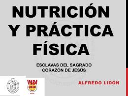 Nutrición y práctica física