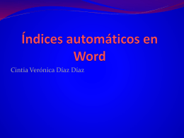 Índices automáticos en Word (326196)