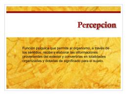 Percepcion - psicologiaconsumidordistancia