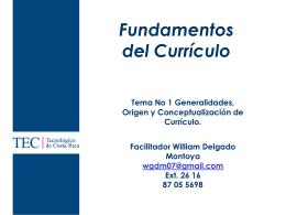 Bases y Fundamentos del Currículo