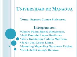 Seguros Grupo ME04A - Universidad de Managua