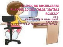 Colegio de bachilleres plantel 20 del valle *Matías