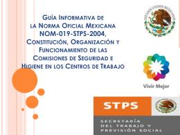 Guía Informativa de la Norma Oficial Mexicana NOM-019