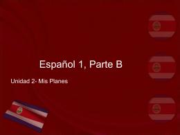 Español 1, Parte B