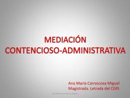 la mediación en la jurisdicción contencioso