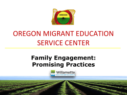 Family Engagement: Promising Practices