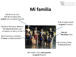 Mi familia - Carolandia