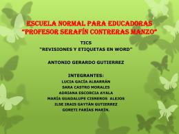 REVISION Y ETIQUIETAS DE WORD