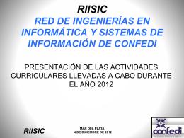 Resumen Revisión Curricular 2012