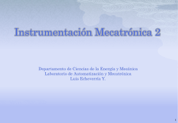 Instrumentación Industrial Mecánica