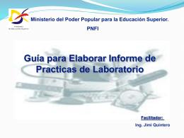 Guia para Informe de Practicas. - uptm pnf