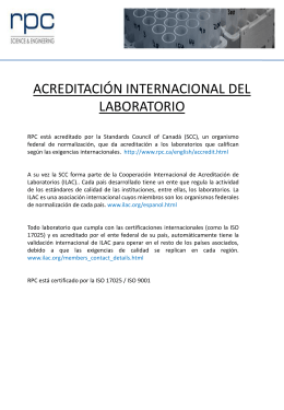 acreditación internacional del laboratorio