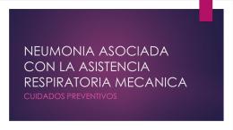 neumonia asociada con la asistencia respiratoria