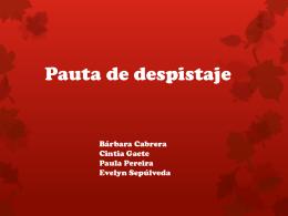 Pauta de Despistaje (132615)