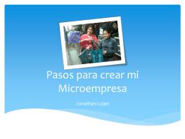 Pasos para crear mi Microempresa