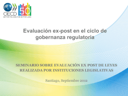 Evaluación ex-post en el ciclo de gobernanza regulatoria