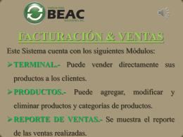 Presentación F&V - BEAC SOLUCIONES