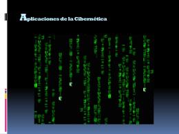 Aplicaciones de la Cibernética