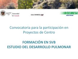 Formación en SVB Estudio del desarrollo pulmonar