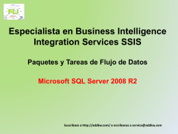 Clase BI MSQL Server 2008 Integration Services