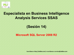 Clase 14 BI MSQL Server 2008 Analysis Services