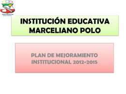 plan de mejoramiento institucional 2012-2015
