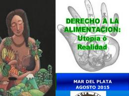 Mar del Plata Salud,Nutricion y Soberania Alimentaria