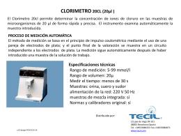 CLORÍMETRE 20CL (20µl )
