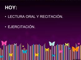 lectura oral y recitacion - Liceo Bicentenario Talagante