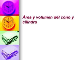 planificación área y volumen cono y cilindro