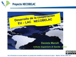 Daniela Marsili: Desarrollo de la cooperación EU_LAC NECOBELAC