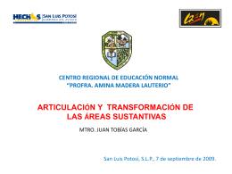 articulación y transformación de las áreas sustantivas