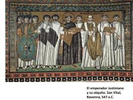El emperador Justiniano y su séquito. San Vital - juanje