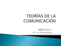 Les entrego la presentación sobre las teorías de la comunicación