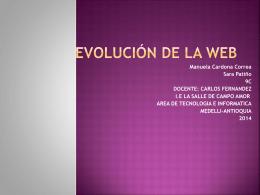 EVOLUCIÓN DE LA WEB (120710)