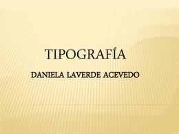Tipografía - Danilaverde