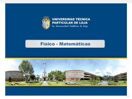 Diapositiva 1 - Universidad Técnica Particular de Loja