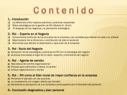 CONTENIDO CONFERENCIA ROL RH