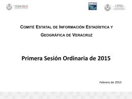 PAT 2015 del CEIEG - Comité Estatal de Información Estadística y