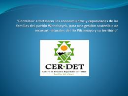 CERDET - Sociedad Boliviana de Derecho Ambiental