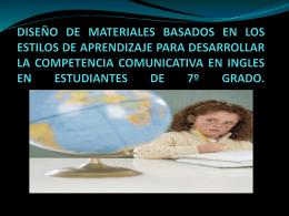 Diapositiva 1 - Red De Profesores De Inglés