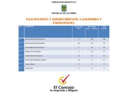 resultado de la votación comité convivencia