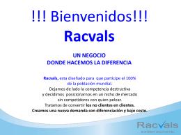 Racvals - Generando Tranquilidad