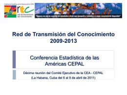 Red de Transmisión del Conocimiento 2009-2013 INEGI