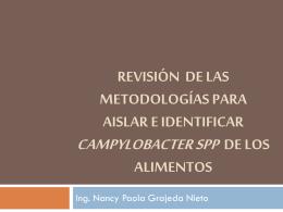 Revisión de las metodologías para aislar e identificar campylobacter